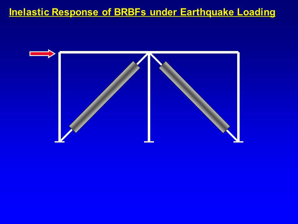 Inelastic Response of BRBFs under Earthquake Loading