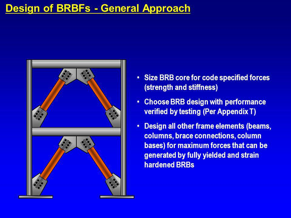 Design of BRBFs - General Approach