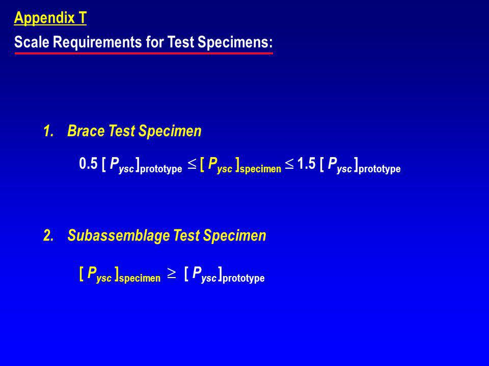 Scale Requirements for Test Specimens: