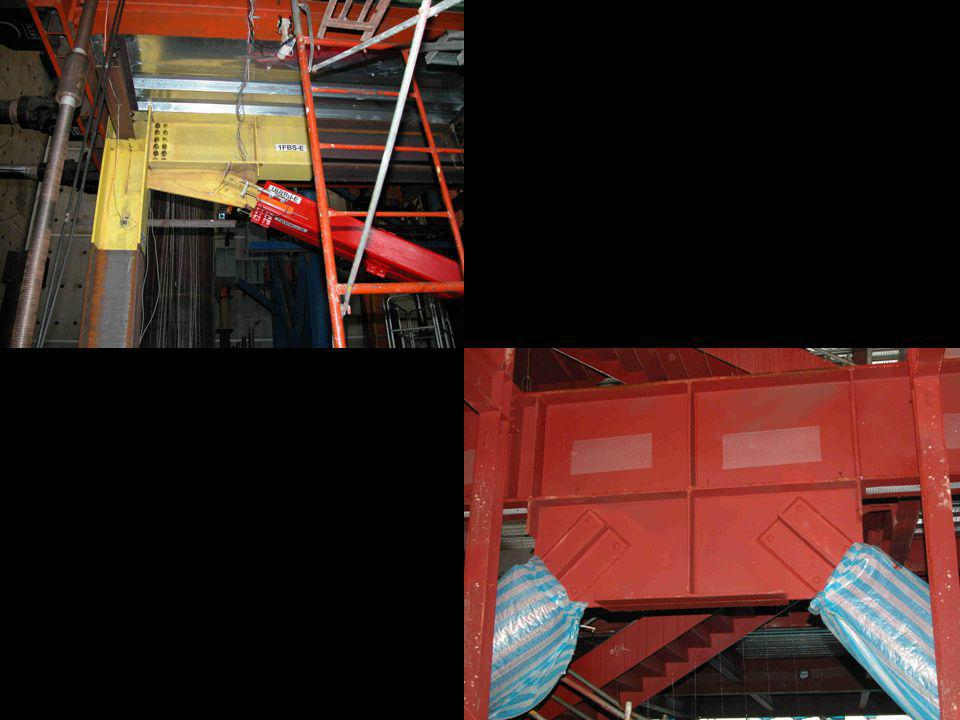 Upper left: BRB connection used in test frame at National Center for Research in Earthquake Engineering - Taipei