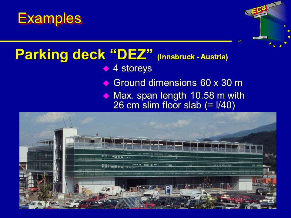 Parking deck DEZ (Innsbruck - Austria)