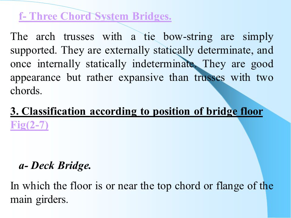f- Three Chord System Bridges.