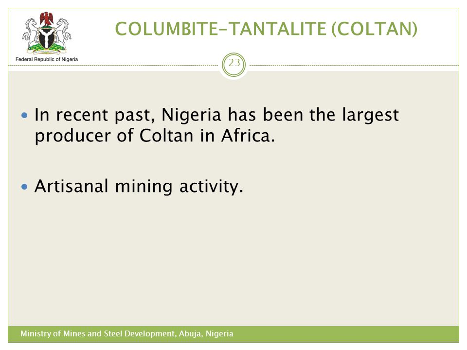 COLUMBITE-TANTALITE (COLTAN)