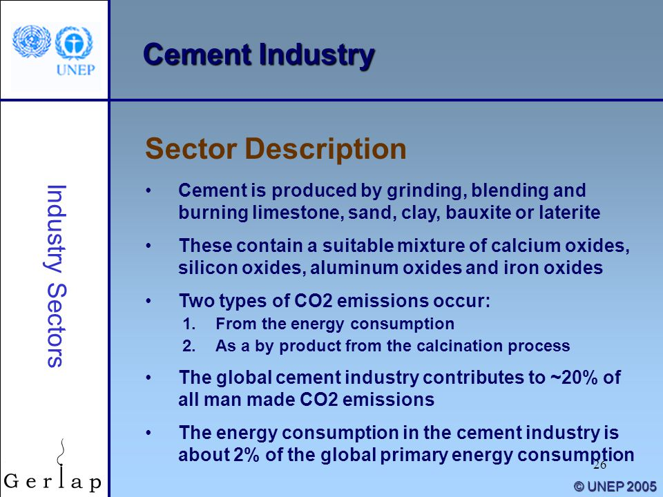 Cement Industry Sector Description Industry Sectors