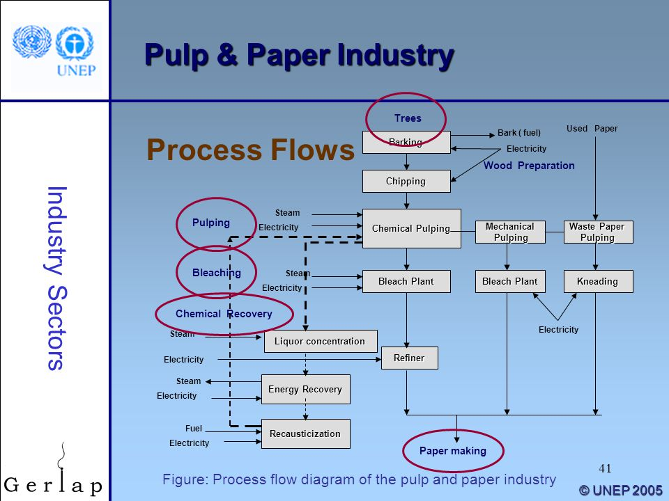 Pulp & Paper Industry Process Flows Industry Sectors