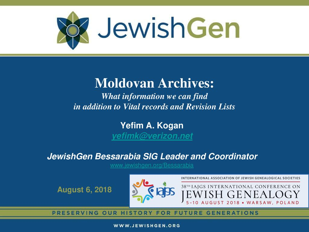 Moldovan Archives: What information we can find in addition