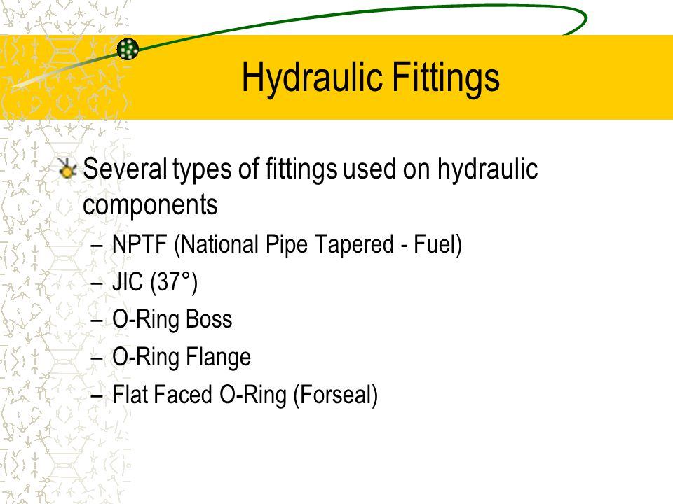 Hydraulic Lines and Fittings - ppt download