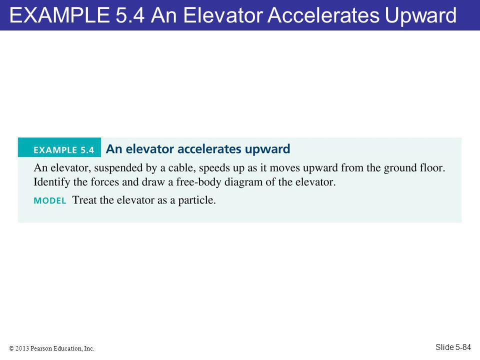 EXAMPLE 5.4 An Elevator Accelerates Upward