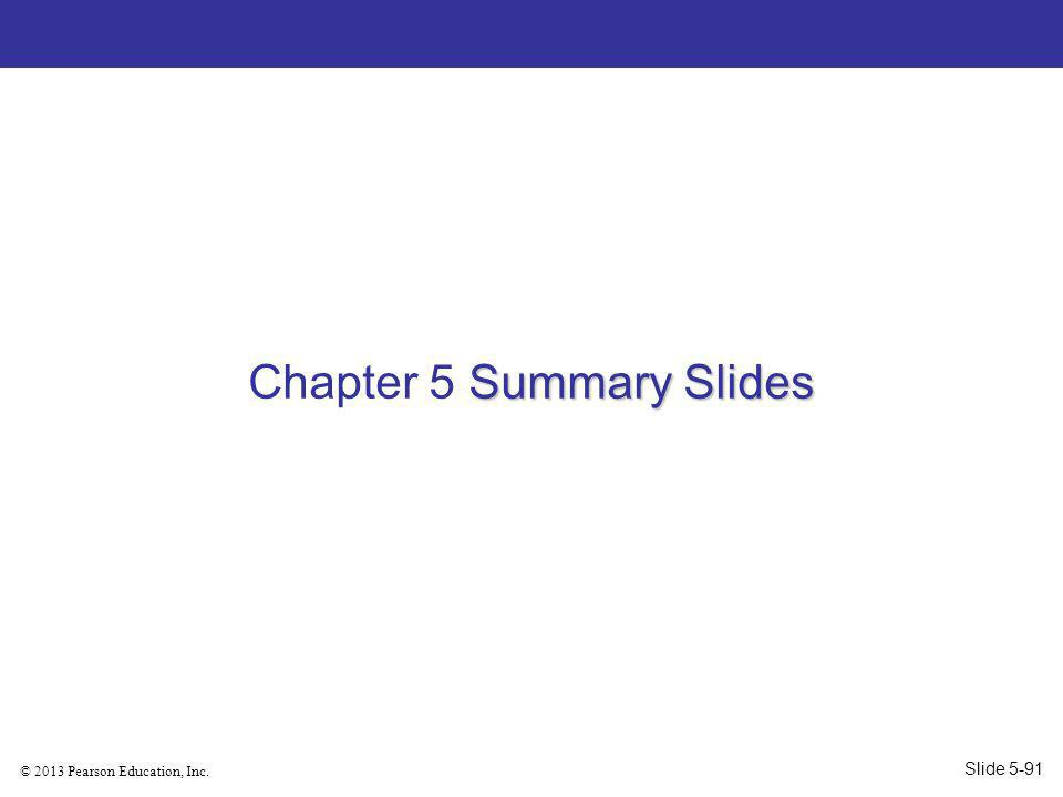 Chapter 5 Summary Slides