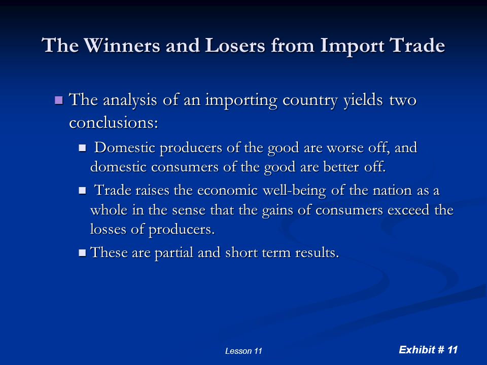 The Effects of a Tariff A tariff is a tax on goods produced abroad and sold domestically.