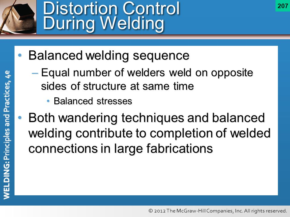 Distortion Control During Welding