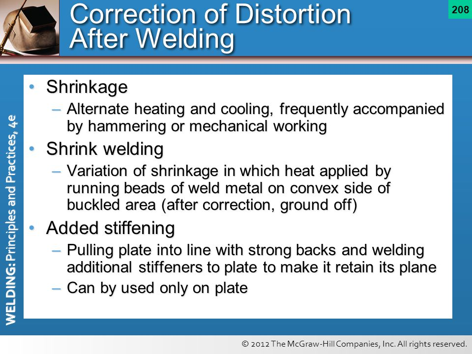 Correction of Distortion After Welding