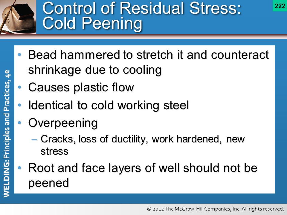 Control of Residual Stress: Cold Peening