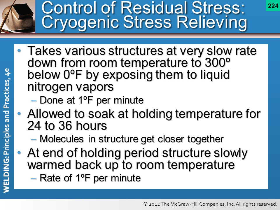 Control of Residual Stress: Cryogenic Stress Relieving
