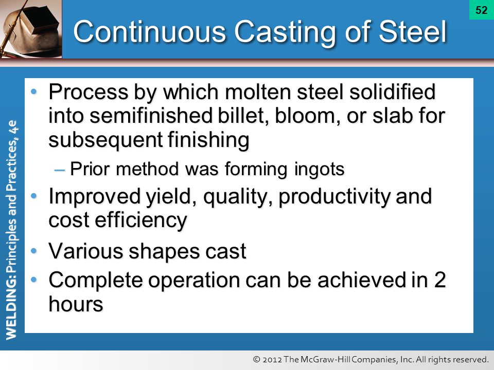 Continuous Casting of Steel
