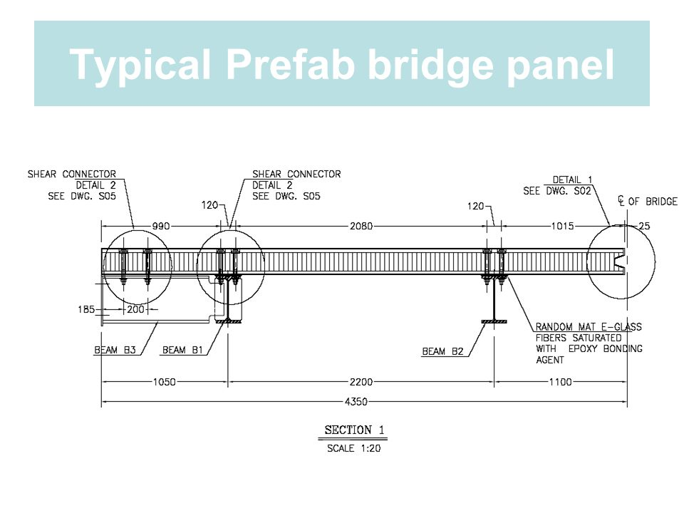 Typical Prefab bridge panel