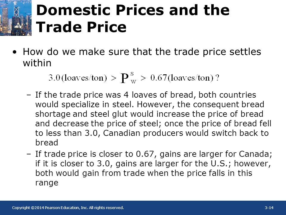 Domestic Prices and the Trade Price