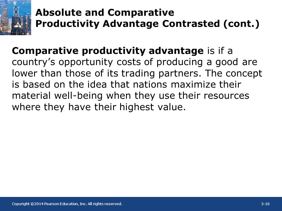 Absolute and Comparative Productivity Advantage Contrasted (cont.)