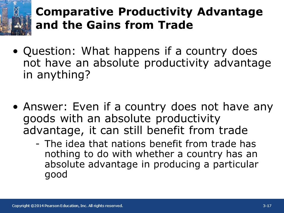 Comparative Productivity Advantage and the Gains from Trade