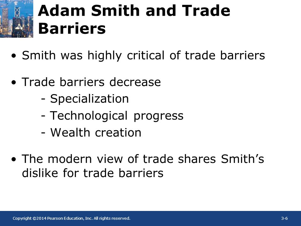 Adam Smith and Trade Barriers