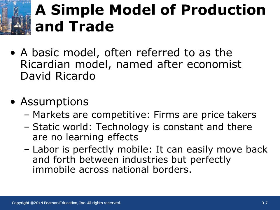 A Simple Model of Production and Trade