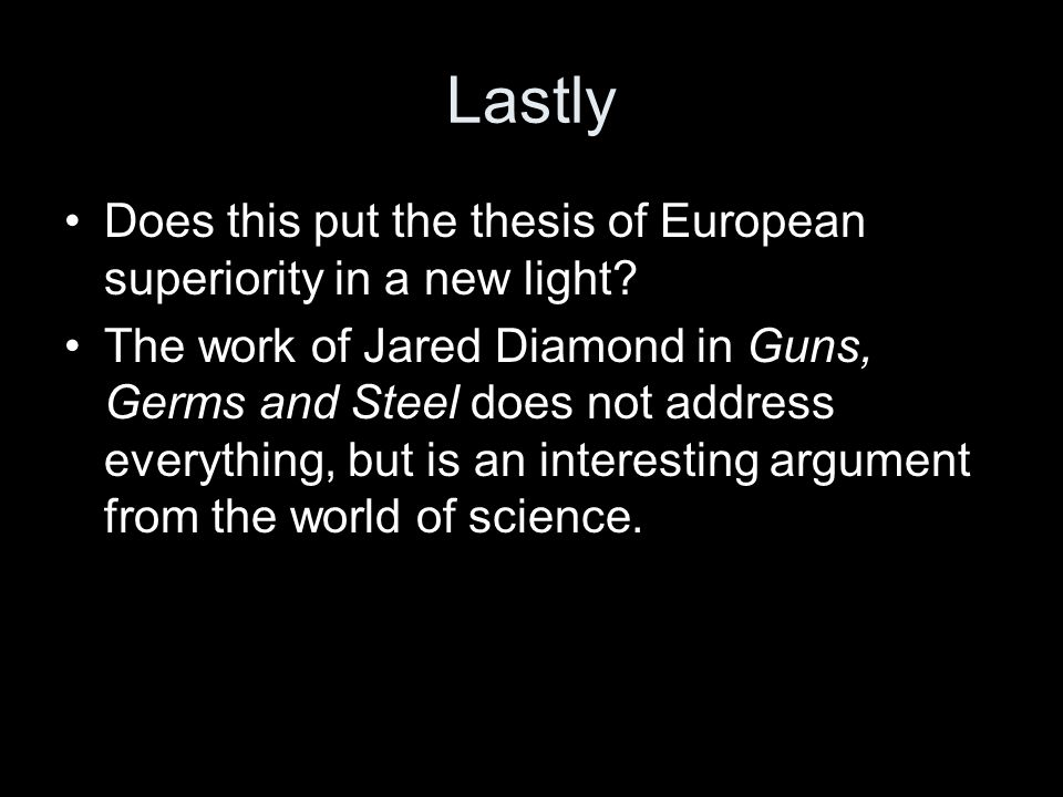 jared diamond guns germs and steel thesis