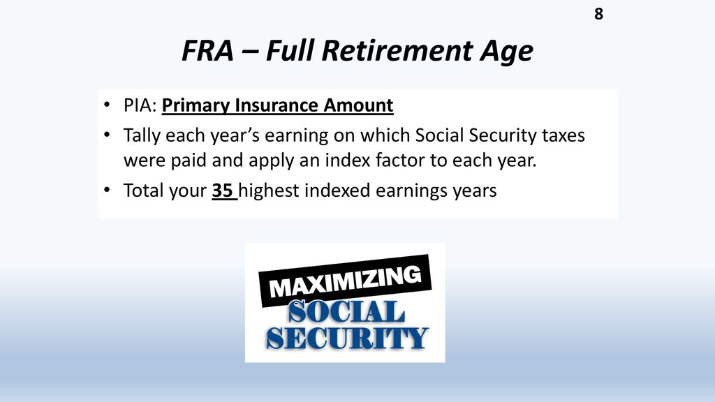 Welcome to our workshop on Maximizing Your Social Security