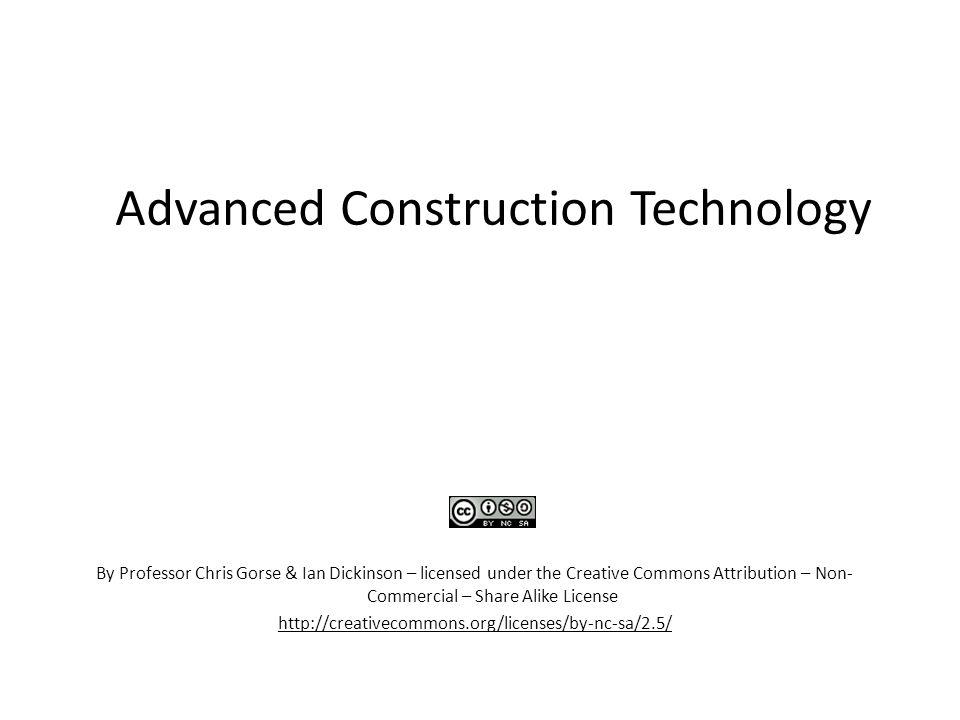 advanced construction technology pdf download