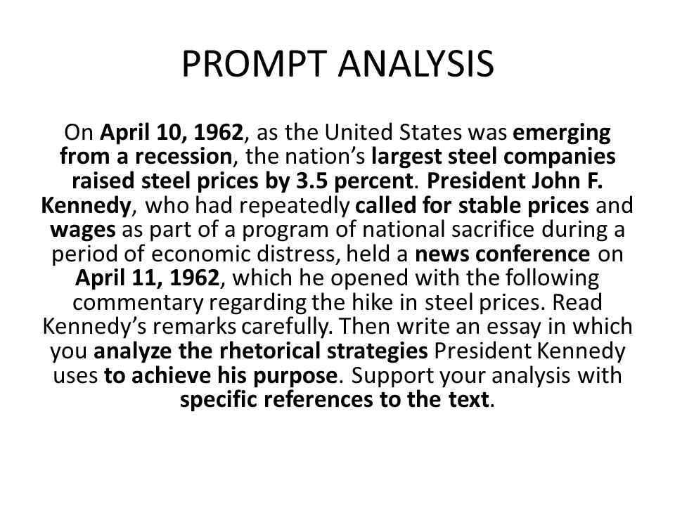 PROMPT ANALYSIS