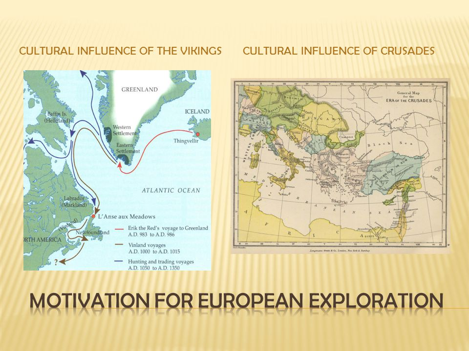 Motivation for European exploration
