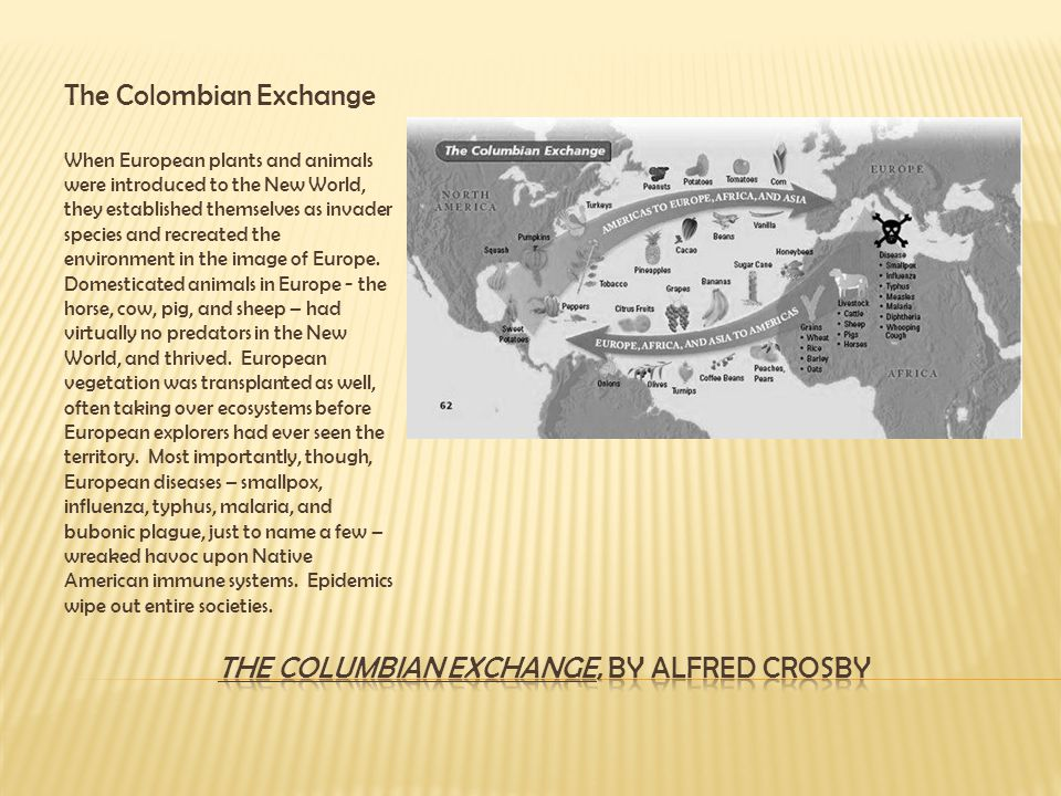 The Columbian Exchange, by Alfred Crosby