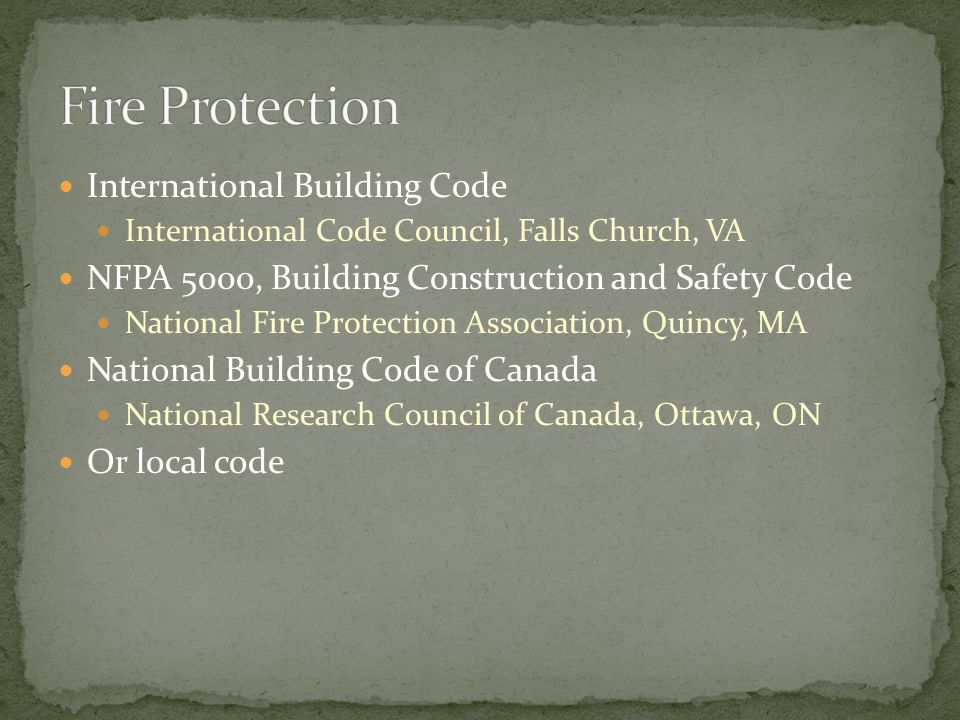 Fire Protection International Building Code