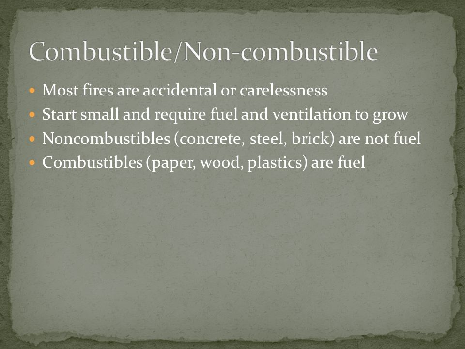 Combustible/Non-combustible
