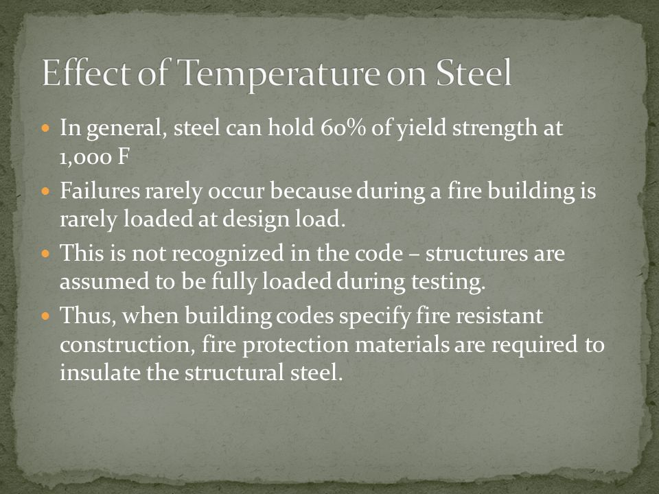Effect of Temperature on Steel