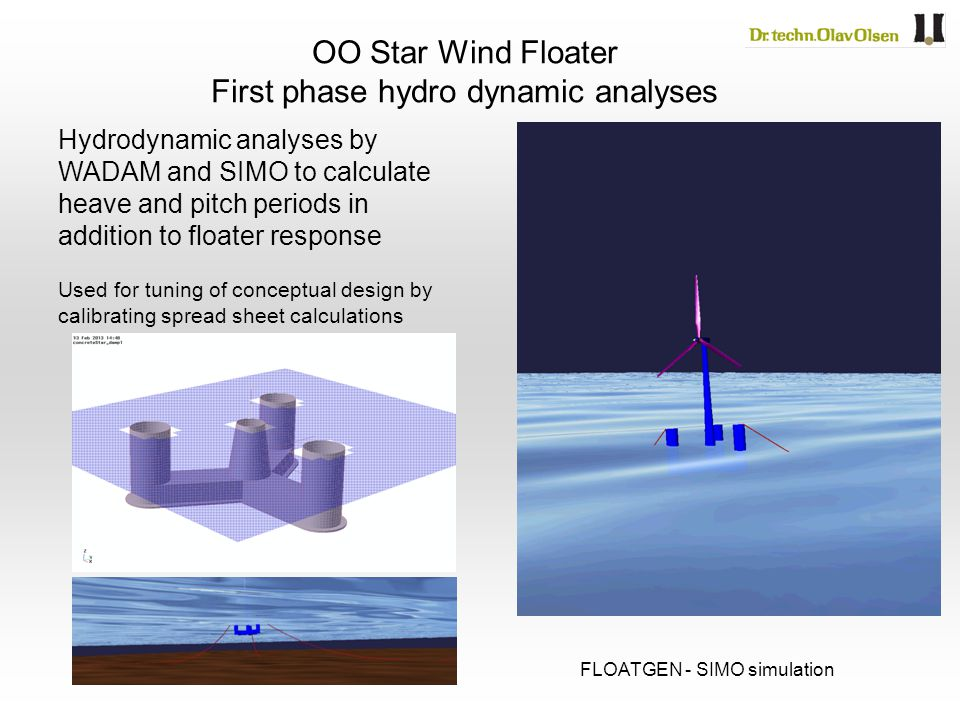 First phase hydro dynamic analyses