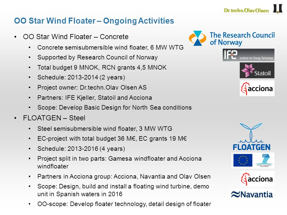 OO Star Wind Floater – Ongoing Activities