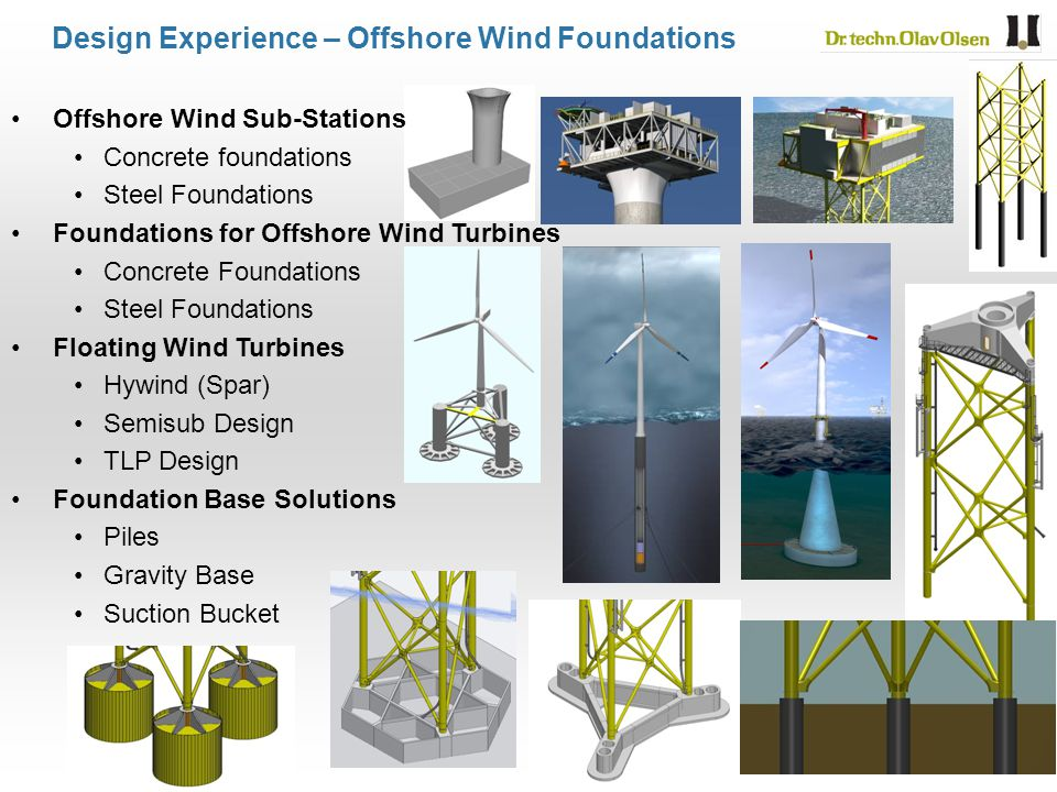 Design Experience – Offshore Wind Foundations