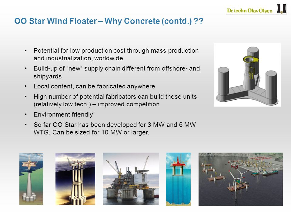 OO Star Wind Floater – Why Concrete (contd.)