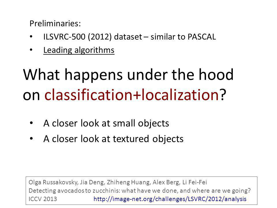 What happens under the hood on classification+localization