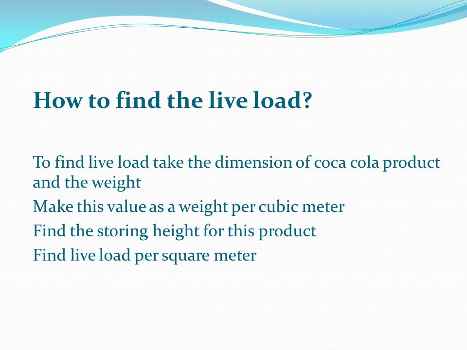 How to find the live load