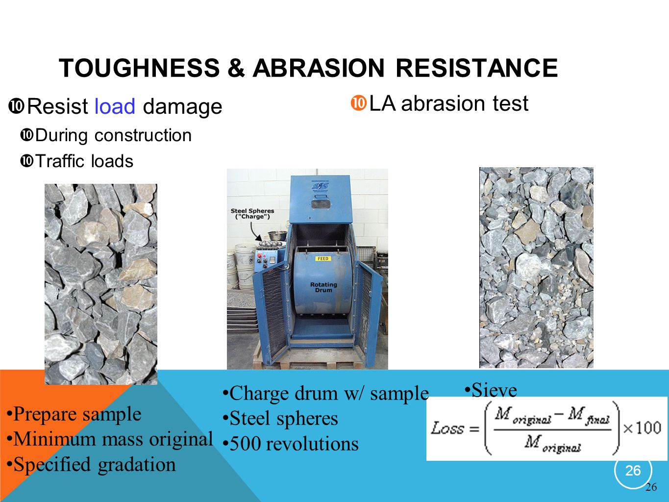 TOUGHNESS & ABRASION RESISTANCE
