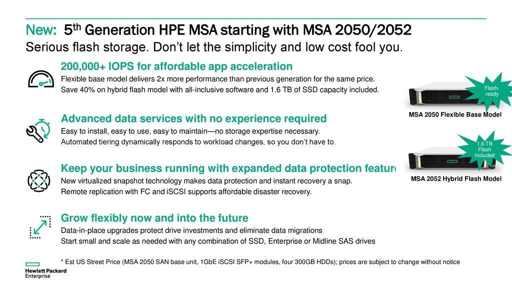 Hewlett Packard Enterprise MSA Product Family - ppt download
