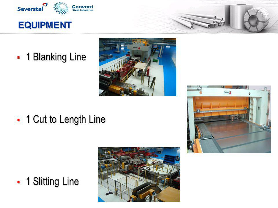 EQUIPMENT 1 Blanking Line 1 Cut to Length Line 1 Slitting Line