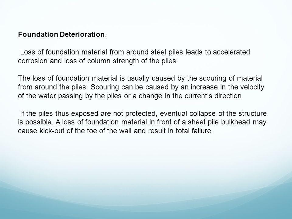 Foundation Deterioration.