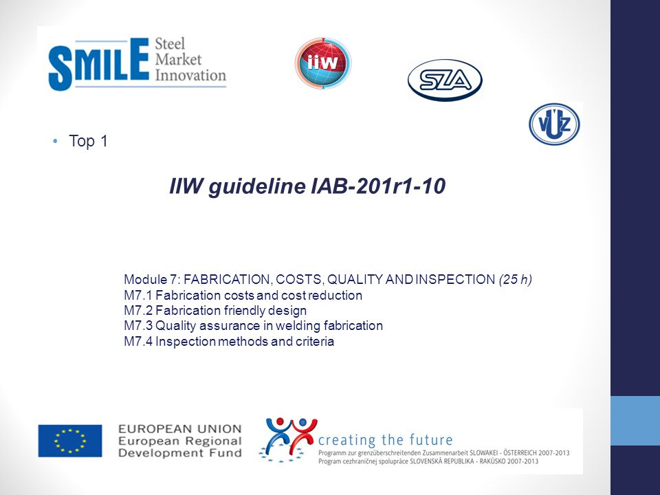 IIW guideline IAB-201r1-10 Top 1