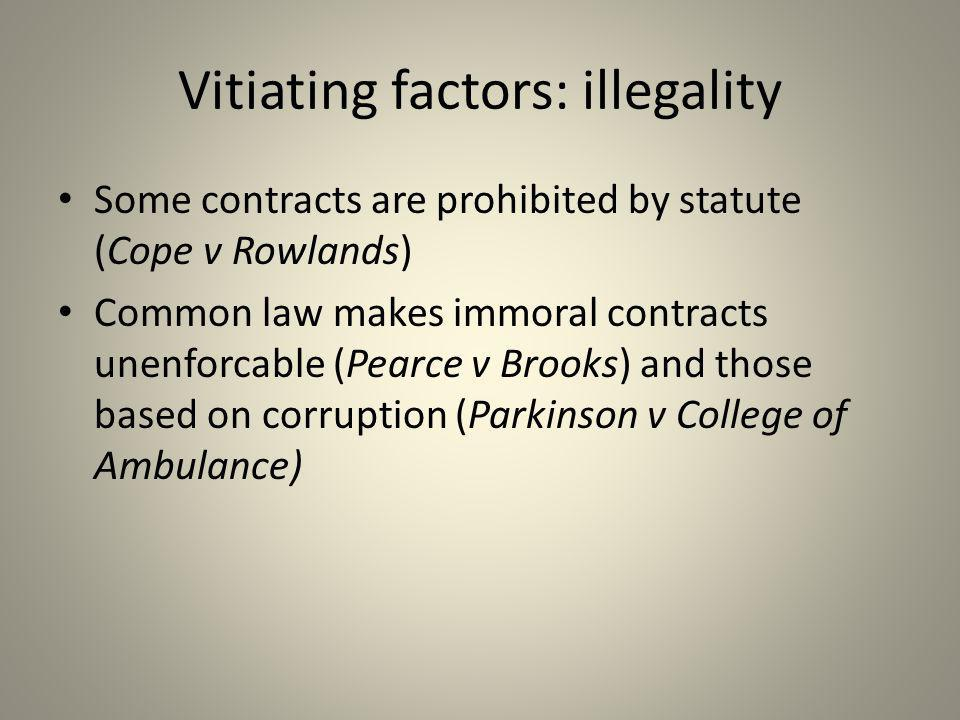 Vitiating factors: illegality