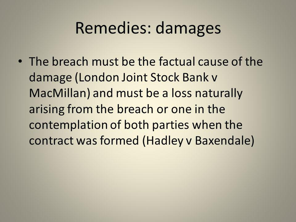 Remedies: damages