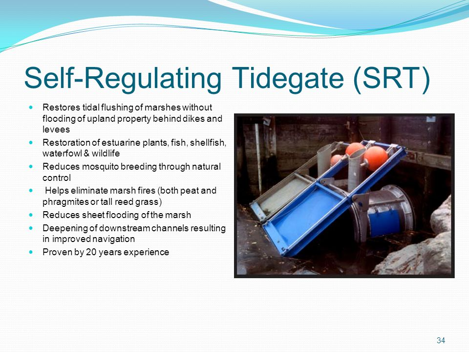 Self-Regulating Tidegate (SRT)