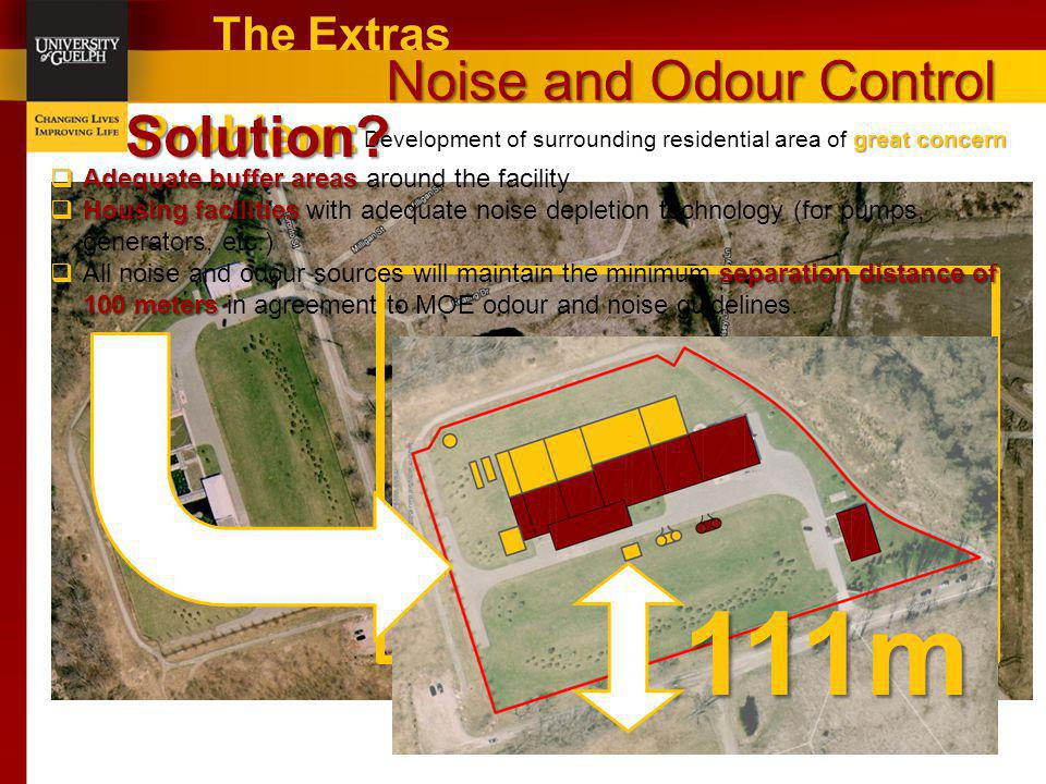 111m The Problem Solution Noise and Odour Control Problem: The Extras
