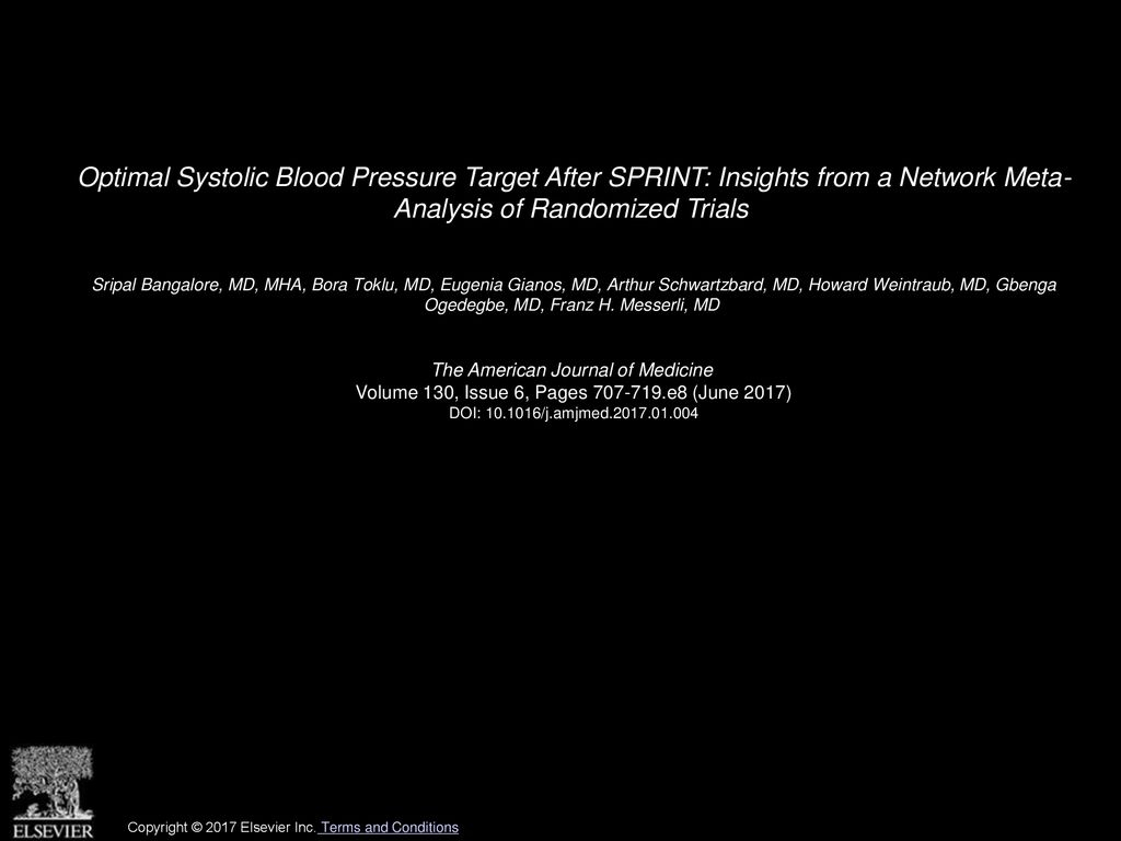 Optimal Systolic Blood Pressure Target After SPRINT: Insights from a